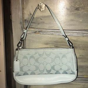 Beautiful sea foam blue mini Coach purse
